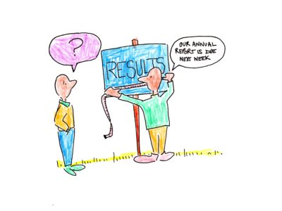 Measure results right - cartoon